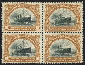 Sale Number 1166, Lot Number 910, 1901 Pan-American Issue (Scott 294-299)10c Pan-American (299), 10c Pan-American (299)