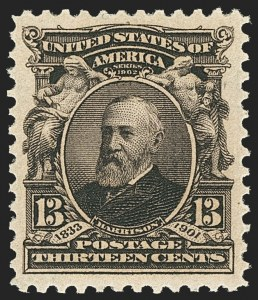 Sale Number 1166, Lot Number 912, 1902-08 Issues (Scott 300-320)13c Purple Black (308), 13c Purple Black (308)