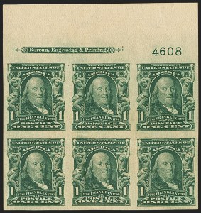 Sale Number 1166, Lot Number 921, 1902-08 Issues (Scott 300-320)1c Blue Green, 2c Carmine, Imperforate (314, 320), 1c Blue Green, 2c Carmine, Imperforate (314, 320)