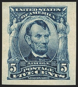 Sale Number 1166, Lot Number 922, 1902-08 Issues (Scott 300-320)5c Blue, Imperforate (315), 5c Blue, Imperforate (315)