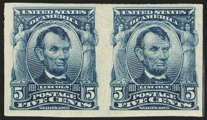 Sale Number 1166, Lot Number 925, 1902-08 Issues (Scott 300-320)5c Blue, Imperforate (315), 5c Blue, Imperforate (315)