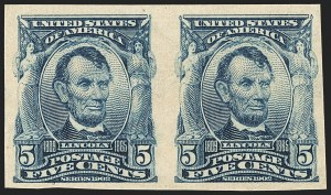 Sale Number 1166, Lot Number 926, 1902-08 Issues (Scott 300-320)5c Blue, Imperforate (315), 5c Blue, Imperforate (315)