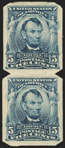 Sale Number 1166, Lot Number 927, 1902-08 Issues (Scott 300-320)5c Blue, Imperforate, U.S. Automatic Vending Co. Ty. I (315), 5c Blue, Imperforate, U.S. Automatic Vending Co. Ty. I (315)