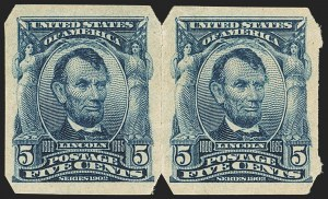 Sale Number 1166, Lot Number 928, 1902-08 Issues (Scott 300-320)5c Blue, Imperforate, U.S. Automatic Vending Co. Ty. II (315), 5c Blue, Imperforate, U.S. Automatic Vending Co. Ty. II (315)