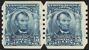 Sale Number 1166, Lot Number 929, 1902-08 Issues (Scott 300-320)5c Blue, Imperforate, U.S. Automatic Vending Co. Ty. III (315), 5c Blue, Imperforate, U.S. Automatic Vending Co. Ty. III (315)