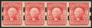 Sale Number 1166, Lot Number 933, 1902-08 Issues (Scott 300-320)2c Carmine, Ty. II, Imperforate (320Ad; formerly 320d), 2c Carmine, Ty. II, Imperforate (320Ad; formerly 320d)