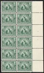 Sale Number 1166, Lot Number 937, 1904-07 Louisiana Purchase, Jamestown Issues (Scott 323-330)1c Jamestown (328), 1c Jamestown (328)