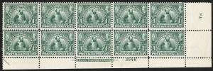 Sale Number 1166, Lot Number 938, 1904-07 Louisiana Purchase, Jamestown Issues (Scott 323-330)1c Jamestown (328), 1c Jamestown (328)