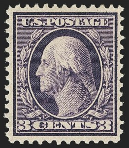 Sale Number 1166, Lot Number 962, 1909 Bluish Paper Issue (Scott 357-366)3c Deep Violet, Bluish (359), 3c Deep Violet, Bluish (359)