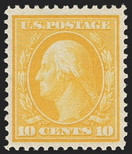 Sale Number 1166, Lot Number 967, 1909 Bluish Paper Issue (Scott 357-366)10c Yellow, Bluish (364), 10c Yellow, Bluish (364)