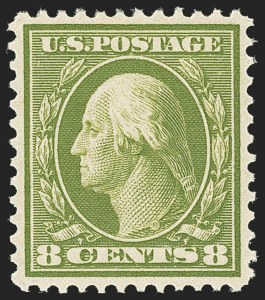 Sale Number 1166, Lot Number 975, 1910-13 Washington-Franklin Issue (Scott 374-396)8c Olive Green (380), 8c Olive Green (380)