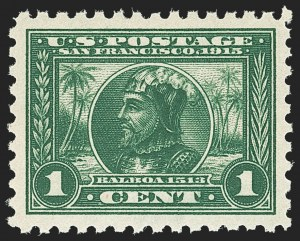 Sale Number 1166, Lot Number 987, 1913-15 Panama-Pacific Issue, Gems from the Vaquero Coll. (Scott 397-404)1c Panama-Pacific, Perf 10 (401), 1c Panama-Pacific, Perf 10 (401)
