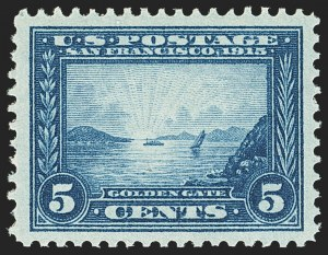 Sale Number 1166, Lot Number 997, 1913-15 Panama-Pacific Issue (Scott 397-404)5c Panama-Pacific (399), 5c Panama-Pacific (399)