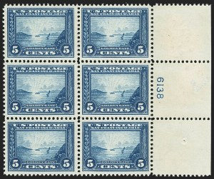 Sale Number 1166, Lot Number 998, 1913-15 Panama-Pacific Issue (Scott 397-404)5c Panama-Pacific (399), 5c Panama-Pacific (399)