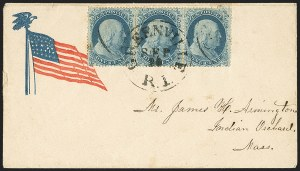 Sale Number 1167, Lot Number 2296, 1857-60 Issue1c Blue, Ty. I (18), 1c Blue, Ty. I (18)