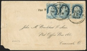 Sale Number 1167, Lot Number 2298, 1857-60 Issue1c Blue, Ty. IV (23), 1c Blue, Ty. IV (23)