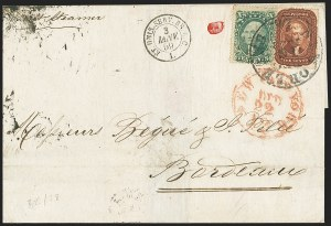 Sale Number 1167, Lot Number 2302, 1857-60 Issue5c Bright Red Brown (28b), 5c Bright Red Brown (28b)