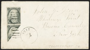Sale Number 1167, Lot Number 2321, 1861-67 Issues2c Black, Diagonal Half Used as 1c (73a), 2c Black, Diagonal Half Used as 1c (73a)