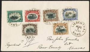 Sale Number 1167, Lot Number 2388, Columbian, Trans-Mississippi, Pan-American Issues1c-10c Pan-American (294-299), 1c-10c Pan-American (294-299)