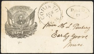 Sale Number 1167, Lot Number 2468, Confederate States: Handstamped Paid and DueCorinth Miss. Jun. 13 (1861), Corinth Miss. Jun. 13 (1861)