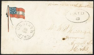 Sale Number 1167, Lot Number 2469, Confederate States: Handstamped Paid and DueCorinth Miss. Jul. 20 (1861), Corinth Miss. Jul. 20 (1861)