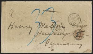 Sale Number 1167, Lot Number 2507, Confederate States: Prison & BlockadeBlockade-Run Cover from Wilmington N.C. to Heidelberg, Germany, Blockade-Run Cover from Wilmington N.C. to Heidelberg, Germany