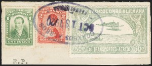 Sale Number 1168, Lot Number 3073, 1920 SCADTA First Issue (C14, C16)COLOMBIA, 1920, 50c Pale Green, Air Post (C16), COLOMBIA, 1920, 50c Pale Green, Air Post (C16)