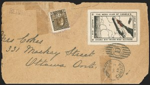 Sale Number 1169, Lot Number 3503, Aero Club of Canada (CLP1-CLP2)CANADA, 1918, 25c Black and Red, Aero Club of Canada Air Post Semi-Official (CLP2), CANADA, 1918, 25c Black and Red, Aero Club of Canada Air Post Semi-Official (CLP2)