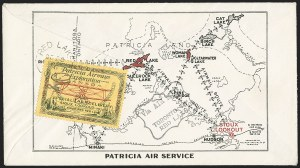 "Sale Number 1169, Lot Number 3540, Patricia Airways and Exploration (CL13-CL30)CANADA, 1926, (10c) Green & Red on Yellow, Patricia Airways Air Post Semi-Official, Inscribed ""FED"" in Violet Ink (CL13h var; Unitrade CL13e var), CANADA, 1926, (10c) Green & Red on Yellow, Patricia Airways Air Post Semi-Official, Inscribed ""FED"" in Violet Ink (CL13h var; Unitrade CL13e var)"