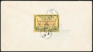 "Sale Number 1169, Lot Number 3543, Patricia Airways and Exploration (CL13-CL30)CANADA, 1926, (25c) Green & Red on Yellow, Patricia Airways Air Post Semi-Official, ""Red Lake"" Inscriptions Inverted (CL13k; Unitrade CL13i), CANADA, 1926, (25c) Green & Red on Yellow, Patricia Airways Air Post Semi-Official, ""Red Lake"" Inscriptions Inverted (CL13k; Unitrade CL13i)"