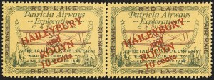 "Sale Number 1169, Lot Number 3546, Patricia Airways and Exploration (CL13-CL30)CANADA, 1927, 10c Green & Red on Yellow, Patricia Airways Air Post Semi-Official, Small ""t"" in ""TO"" (CL14b), CANADA, 1927, 10c Green & Red on Yellow, Patricia Airways Air Post Semi-Official, Small ""t"" in ""TO"" (CL14b)"