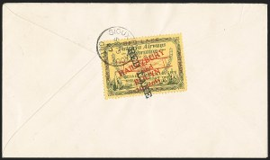 "Sale Number 1169, Lot Number 3564, Patricia Airways and Exploration (CL13-CL30)CANADA, 1927, 10c Green & Red on Yellow, Patricia Airways Air Post Semi-Official, Black ""Red Lake"" Descending (CL17a), CANADA, 1927, 10c Green & Red on Yellow, Patricia Airways Air Post Semi-Official, Black ""Red Lake"" Descending (CL17a)"