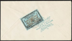 "Sale Number 1169, Lot Number 3575, Patricia Airways and Exploration (CL13-CL30)CANADA, 1926, (50c) Black & Red on Blue, Patricia Airways Air Post Semi-Official, ""FED"" in Green Ink (CL18e), CANADA, 1926, (50c) Black & Red on Blue, Patricia Airways Air Post Semi-Official, ""FED"" in Green Ink (CL18e)"