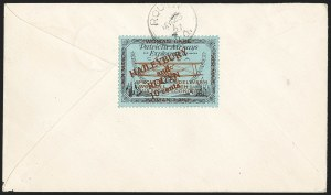 Sale Number 1169, Lot Number 3580, Patricia Airways and Exploration (CL13-CL30)CANADA, 1926, 10c Black & Red on Blue, Patricia Airways Air Post Semi-Official, Dark Red Overprint (CL19b), CANADA, 1926, 10c Black & Red on Blue, Patricia Airways Air Post Semi-Official, Dark Red Overprint (CL19b)