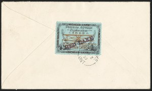 "Sale Number 1169, Lot Number 3594, Patricia Airways and Exploration (CL13-CL30)CANADA, 1926, (5c) Black & Red on Blue, Patricia Airways Air Post Semi-Official, Violet ""Red Lake"" Ascending (CL21a), CANADA, 1926, (5c) Black & Red on Blue, Patricia Airways Air Post Semi-Official, Violet ""Red Lake"" Ascending (CL21a)"