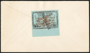 "Sale Number 1169, Lot Number 3603, Patricia Airways and Exploration (CL13-CL30)CANADA, 1926, 10c Black & Red on Blue, Patricia Airways Air Post Semi-Official, ""Red Lake"" Descending (CL22a), CANADA, 1926, 10c Black & Red on Blue, Patricia Airways Air Post Semi-Official, ""Red Lake"" Descending (CL22a)"