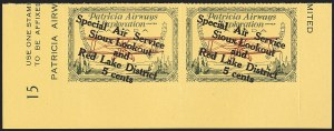 "Sale Number 1169, Lot Number 3620, Patricia Airways and Exploration (CL13-CL30)CANADA, 1927, 5c Green & Red on Yellow, Patricia Airways Air Post Semi-Official, Descending Overprint in Black, Malformed ""o"" in ""Lookout"" (Unitrade CL25f), CANADA, 1927, 5c Green & Red on Yellow, Patricia Airways Air Post Semi-Official, Descending Overprint in Black, Malformed ""o"" in ""Lookout"" (Unitrade CL25f)"