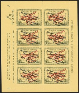 Sale Number 1169, Lot Number 3626, Patricia Airways and Exploration (CL13-CL30)CANADA, 1927, 10c Green & Red on Yellow, Patricia Airways Air Post Semi-Official (CL28), CANADA, 1927, 10c Green & Red on Yellow, Patricia Airways Air Post Semi-Official (CL28)