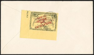 Sale Number 1169, Lot Number 3629, Patricia Airways and Exploration (CL13-CL30)CANADA, 1926, 10c Green & Red on Yellow, Patricia Air Post Semi-Official, Black Inverted Overprint Descending (CL29b; Unitrade CL29i), CANADA, 1926, 10c Green & Red on Yellow, Patricia Air Post Semi-Official, Black Inverted Overprint Descending (CL29b; Unitrade CL29i)
