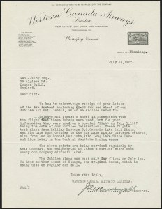 Sale Number 1169, Lot Number 3641, Western Canada Airways Service thru Yukon Airways (CL41-CL42)CANADA, Western Canada Airways Letters, CANADA, Western Canada Airways Letters