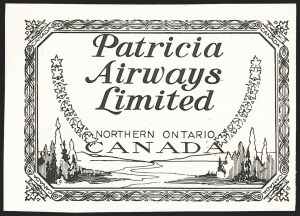 Sale Number 1169, Lot Number 3646, Patricia Airways (CL43)CANADA, 1928, (10c) Patricia Airways Air Post Semi-Official, Proof in Black on White Card (Unitrade CL43P), CANADA, 1928, (10c) Patricia Airways Air Post Semi-Official, Proof in Black on White Card (Unitrade CL43P)