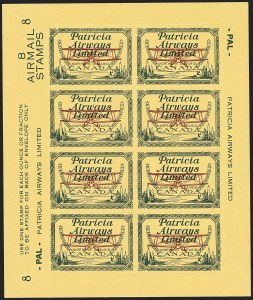 Sale Number 1169, Lot Number 3648, Patricia Airways (CL43)CANADA, 1928, (10c) Green & Red on Yellow, Patricia Airways Air Post Semi-Official (CL43), CANADA, 1928, (10c) Green & Red on Yellow, Patricia Airways Air Post Semi-Official (CL43)