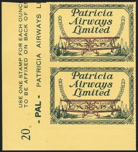 Sale Number 1169, Lot Number 3651, Patricia Airways (CL43)CANADA, 1928, (10c) Green & Red on Yellow, Patricia Airways Air Post Semi-Official, Grounded Plane Variety (Unitrade CL43b), CANADA, 1928, (10c) Green & Red on Yellow, Patricia Airways Air Post Semi-Official, Grounded Plane Variety (Unitrade CL43b)