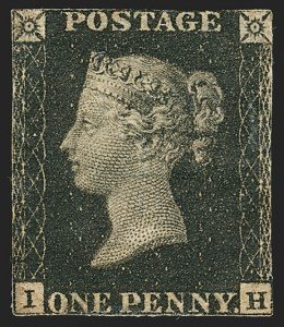 Sale Number 1170, Lot Number 4005, Great BritainGREAT BRITAIN, 1840, 1p Black (1; SG 2), GREAT BRITAIN, 1840, 1p Black (1; SG 2)