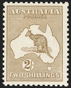 Sale Number 1170, Lot Number 4063, Ascension thru AustraliaAUSTRALIA, 1915, 2sh Brown, Second Watermark (43; SG 4; BW 36k), AUSTRALIA, 1915, 2sh Brown, Second Watermark (43; SG 4; BW 36k)