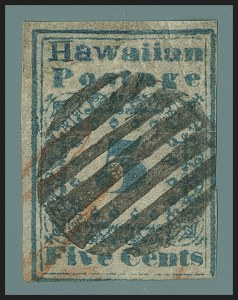 Sale Number 1172, Lot Number 1006, 1851 Missionary Issue (Scott 2-3)HAWAII, 1851, 5c Blue (2), HAWAII, 1851, 5c Blue (2)
