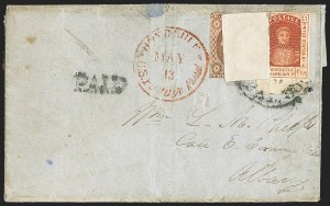 Sale Number 1172, Lot Number 1022, 1853-89 Kamehameha III Issues (Scott 5-7)HAWAII, 1853, 13c Dark Red, Thick White Wove (6), HAWAII, 1853, 13c Dark Red, Thick White Wove (6)