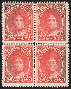 Sale Number 1172, Lot Number 1221, 1864-86 Royal Portraits Issues, cont. (Scott 39-52C)HAWAII, 1883, $1.00 Rose Red (49), HAWAII, 1883, $1.00 Rose Red (49)