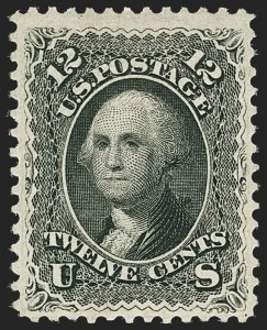 Sale Number 1172, Lot Number 525, 1861-68 Issues, 1875 Re-Issue (Scott 65-105)12c Black (69), 12c Black (69)
