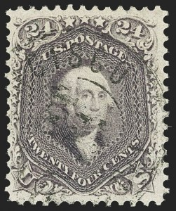 Sale Number 1172, Lot Number 527, 1861-68 Issues, 1875 Re-Issue (Scott 65-105)24c Violet, Thin Paper (70c), 24c Violet, Thin Paper (70c)